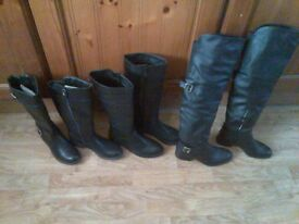 3 pairs of boots