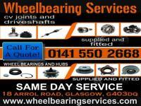 wheel bearings, cv joints, steering and suspension, welding, mot, brakes, car repairs, abs, glasgow