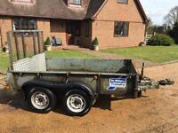 IFOR WILLIAMS GD85 PLANT TRAILER - 8ft x 5ft - GROSS CAPACITY IS 2700KG
