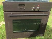 Neff built in electric oven and gas hob