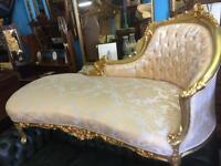 French Carved Chaises Lounge