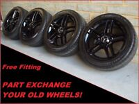"""2308 Genuine 17"""" Mercedes AMG 5 Double Spoke C Class W204 Alloy Wheels And Tyres"""
