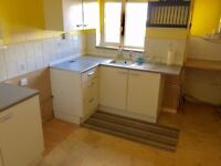Recently carpeted two bedroom first floor flat