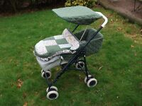 """BEAUTIFUL CHINTZY """"BABY PULLMAN FOLDING PUSHCHAIR/ WITH ALL COVERS AND SUNSHADE"""