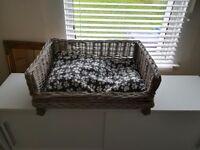 Lovely wicker dog bed
