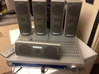 DVD player with surround sound