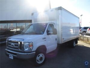 "2015 Ford E-350SD 176"" WB 16' Cube Van DRW, Air Conditioning"