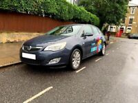 Vauxhall Astra for hire, from 1 hour up-to 10 days