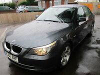 2007 07 BMW 520D DIESEL FULL HISTORY ONE PREVIOUS OWNER IDRIVE STUNNING MANUAL LEATHER PX SWAPS