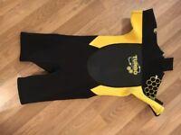 Child's Turbo Titanium shorty wetsuit Size 8