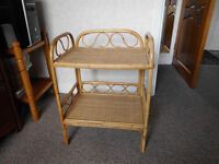 TABLE- BEDSIDE OR OCCASIONAL WICKER TABLE STEAL AT £5.00