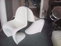 1960s Original Verner Panton vitra s shape chairs x 2