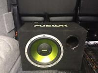 Fusion 12 inch Amp and subwoofer