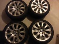 Original BMW rims with winter tires