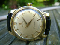 100% Genuine CLASSIC 1952 Omega Seamaster 34mm Automatic Swiss Gold Watch WARRANTY SERVICED