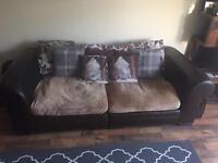 DFS Modular 2 piece leather / material HUGE sofa