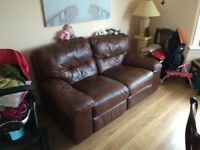 Two Seater Leather Electric Recliner Sofa