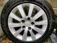 Honda civic/accord alloy wheels with winter tyres