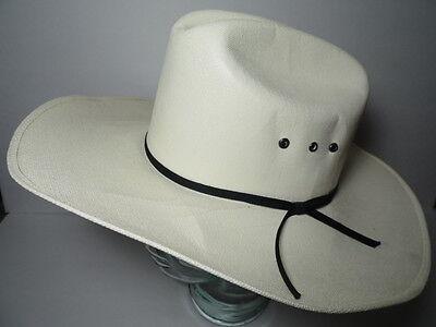 Vintage LAREDO COWBOY CANVAS Western Ranch Rodeo Hat Cap SIZE 6 7/8