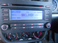 VW VOLKSWAGEN Golf Mark 5 V MK5 ORIGINAL RCD300 RCD 300 Blaupunkt Double Din STEREO CD PLAYER & CODE