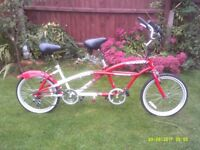 GREAT CHRISTMAS PRESENT FOR TWO LIKE NEW TANDEM ONE OF MANY QUALITY BICYCLES FOR SALE