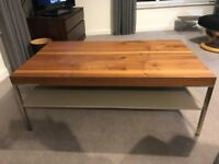Coffee Table - walnut veneer ex Anderson's of Inverurie - only 1 year old.