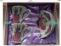 Brand new vintage cup and saucer set