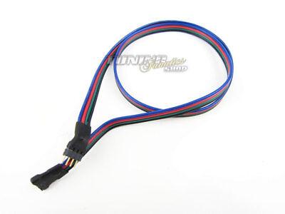 1x 1m RGB Strip Verlängerung für LED SMD Kette Kabel Stecker Verbinder Connector (Remote Control Light Bulb Farben)