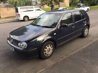 VW golf S 1.6 for sale, Long MOT, tinted rear window, drives well, cheap.