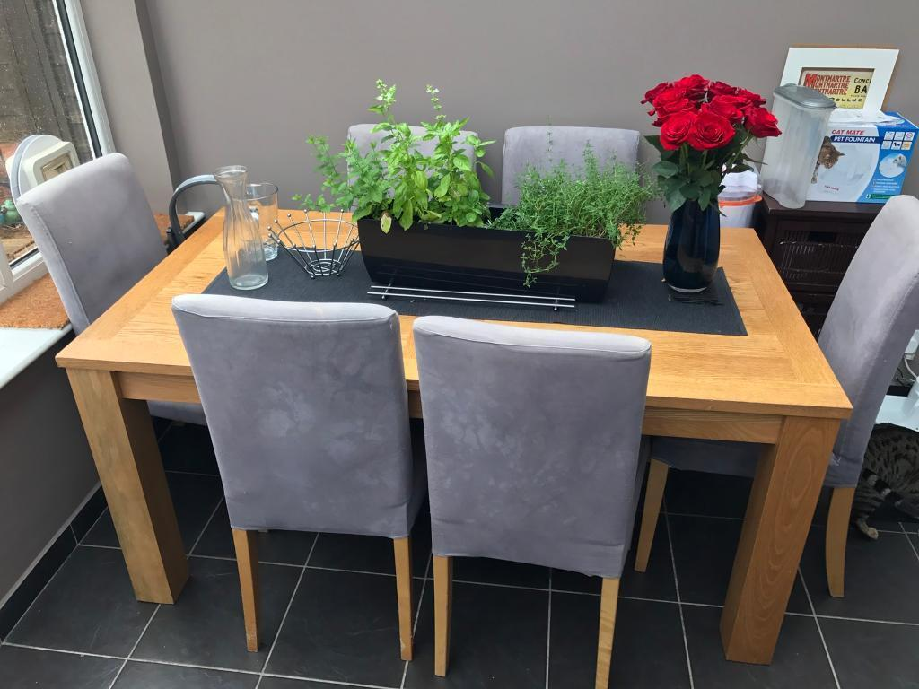 IKEA HENRIKSDAL BJURSTA Extendable Dining Table And 6 Chairs