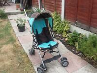 Blue stroller/ pushchair