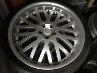 "ver,Range Rover, VW T5 etc 22"" Kahn wheels and tyres"