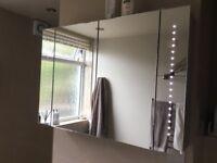 Diamond X Collection. Bathroom cabinet. Illuminated. Takes 8xAA batteries.