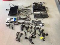 """Network cables, power leads, keyboards, 17"""" monitor, phone chargers- JOB LOT"""