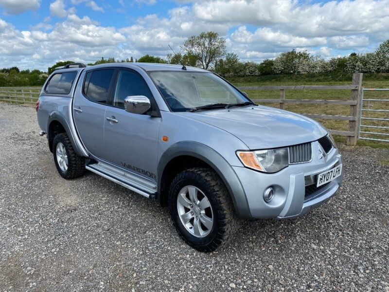 Used, 2007 MITSUBISHI L200 2.5 DID WARRIOR 4X4 DOUBLE CAB PICKUP SILVER LEATHER REAR CANOPY MOT APRIL 2021 for sale  York, North Yorkshire