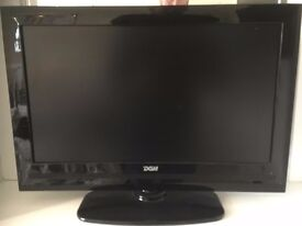 "DGM. 22"" flat screen. 1920 x 1080 pixel HD TV With built in DVD player and Freeview."