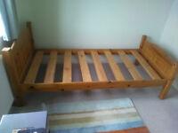 Single Bed : wooden slatted