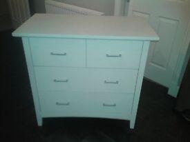 Child's wardrobe & chest of drawers