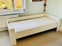 Large single bed frame and mattress - very good condition