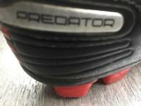 Adidas predator football moulded studded boots size 2