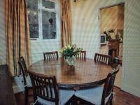 LOMBOK Teak Dining Table - Round, Like New