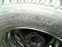 4×new tyres on new rims 195X65X15