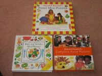 Babies, Toddlers, Children`s Meals and Party Cook Books x3