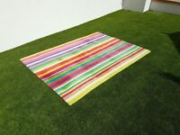 2 x Multi Coloured Fun Rugs for sale, nearly new, 6 1/2 ft x 4 1/2 ft