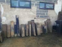 Large pieces of reclaim stone from house renovation