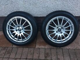 """4 x Nearly New 16"""" Mini Cooper Runflat Winter Wheels with Alloys"""