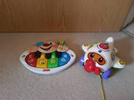 Toys vtech and Fisher Price