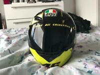 Valentino Rossi helmet with black visor