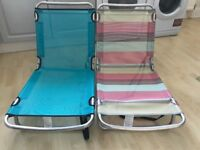 Lay flat beach chairs