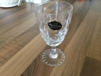 6 lead Crystal glasses